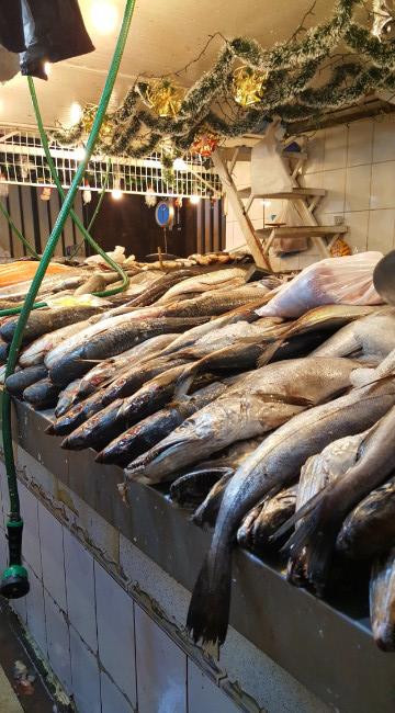 Mercado Central = the dead fish zone.