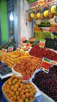 The fruit and vegetable market at Mercado de Abastos Tirso de Molina. I was in heaven!